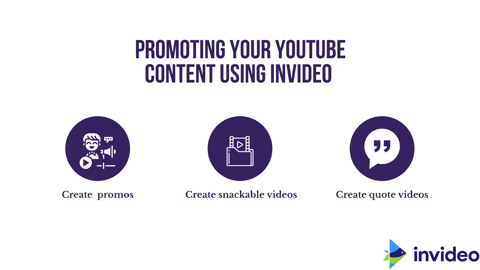 promoting your content using invideo