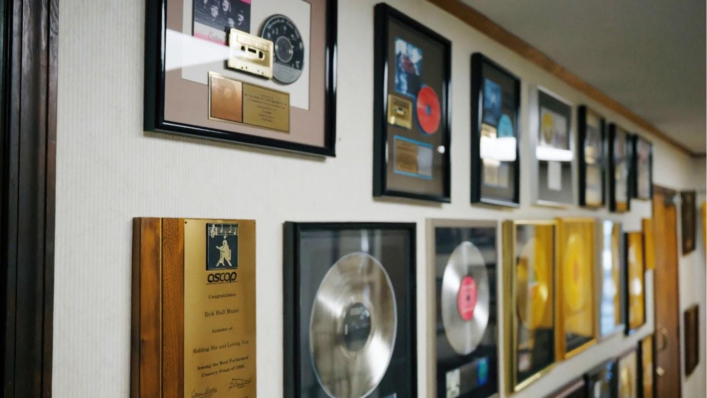 Fame Recording Awards wall